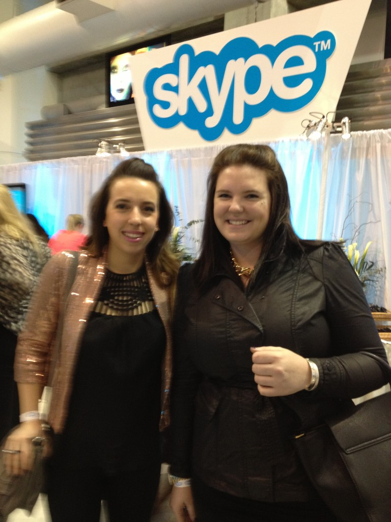 Mallory & I at the Skype pre-party