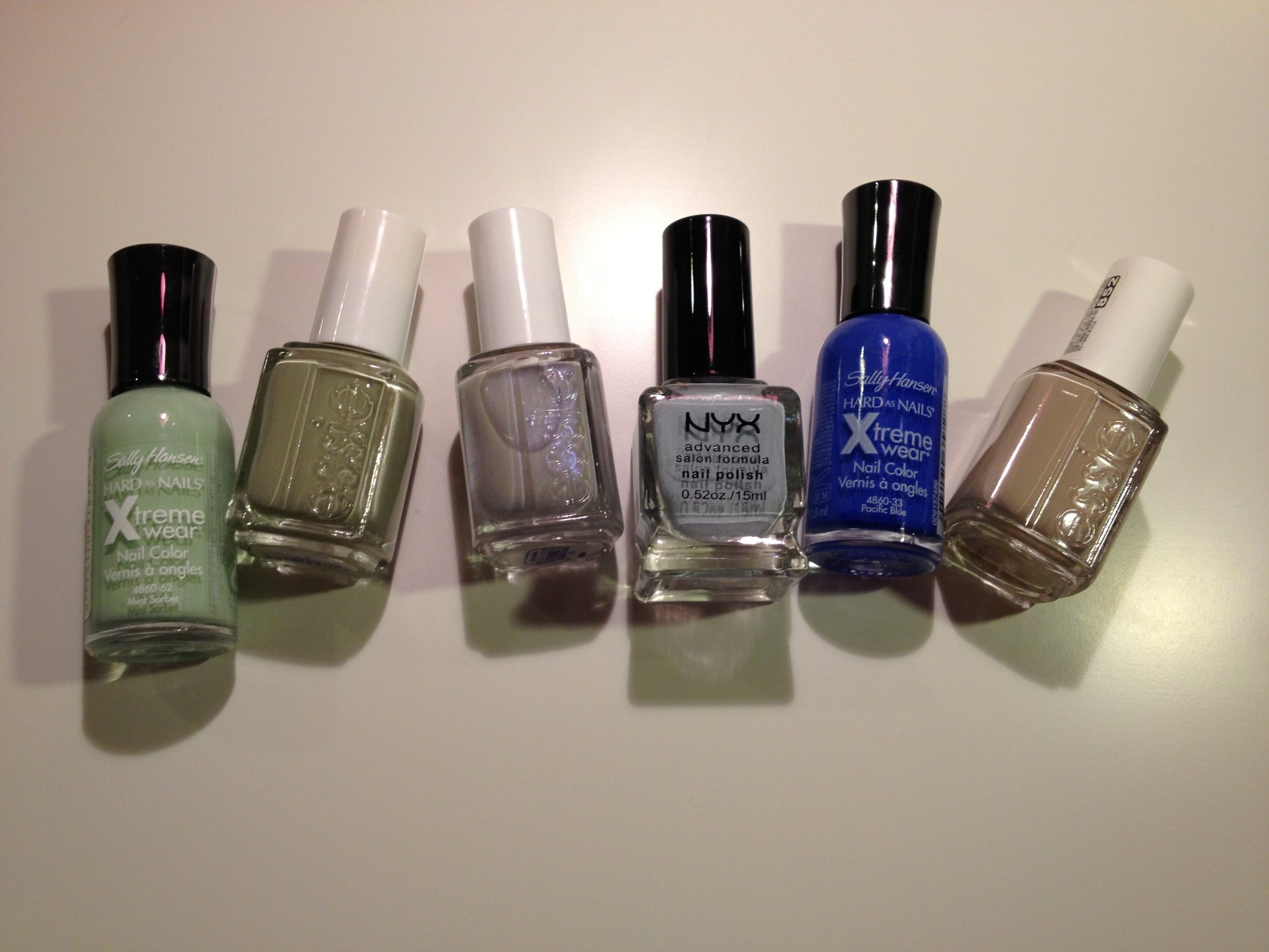 Spring Nail Polish Picks - Greens Blues and Nudes