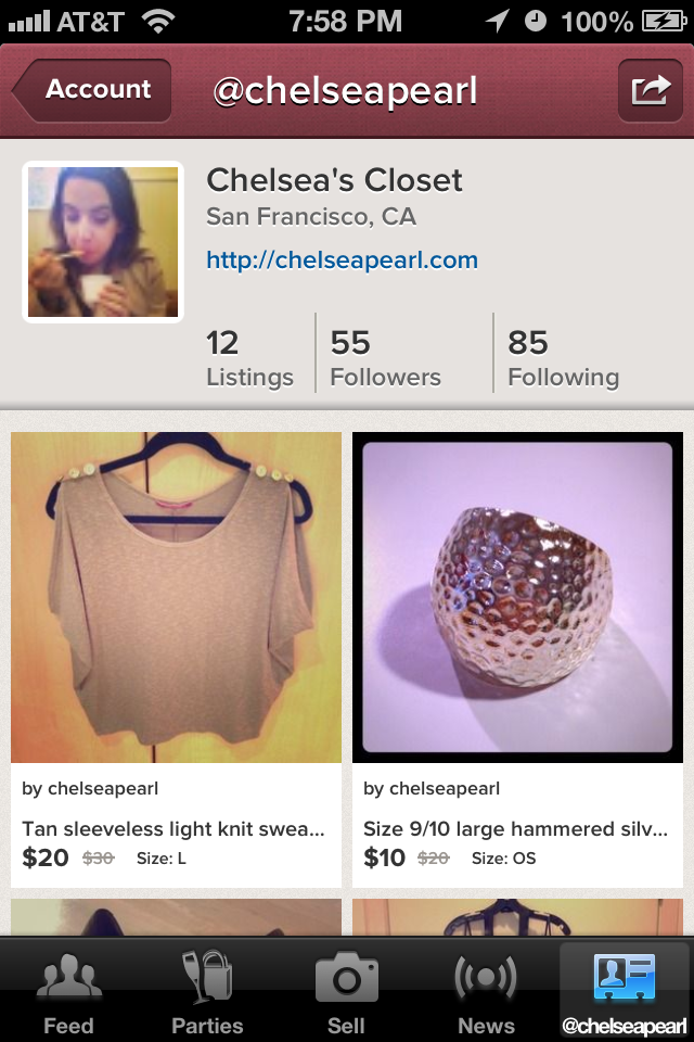 Shop My Closet on Poshmark's iOS App