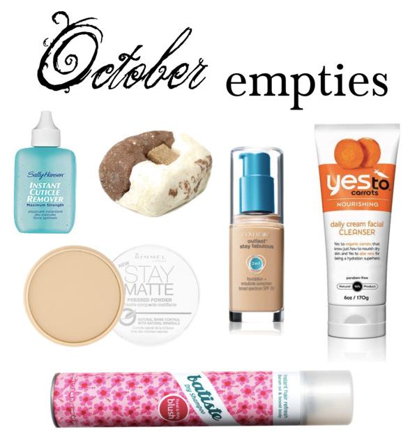 October 2013 Empties