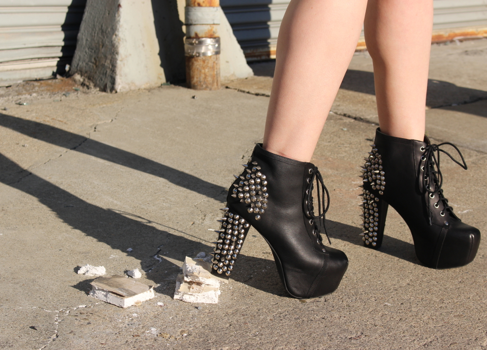 Jeffrey Campbell Spiked Litas - ready for some destruction [1000x720] [OC]
