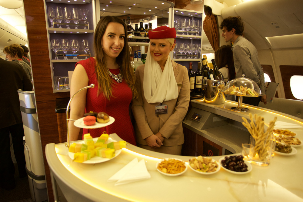 aboard the emirates a380