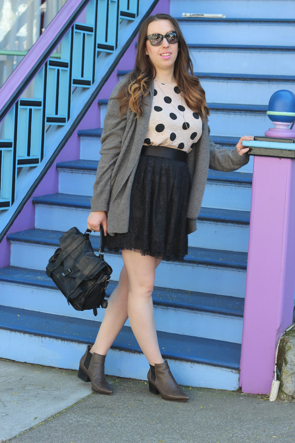 polka dots and lace