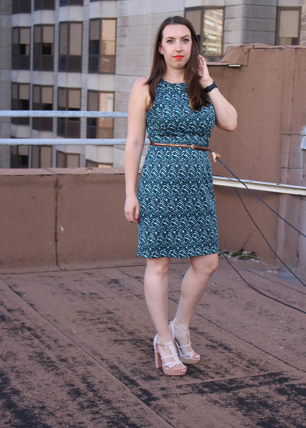 affordable palm tree dress