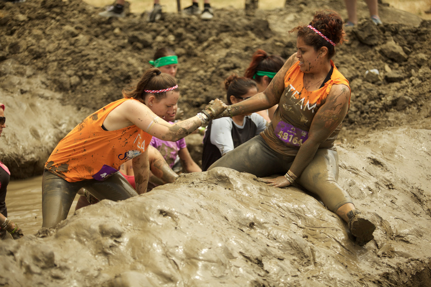 mudderella - mud obstacle course