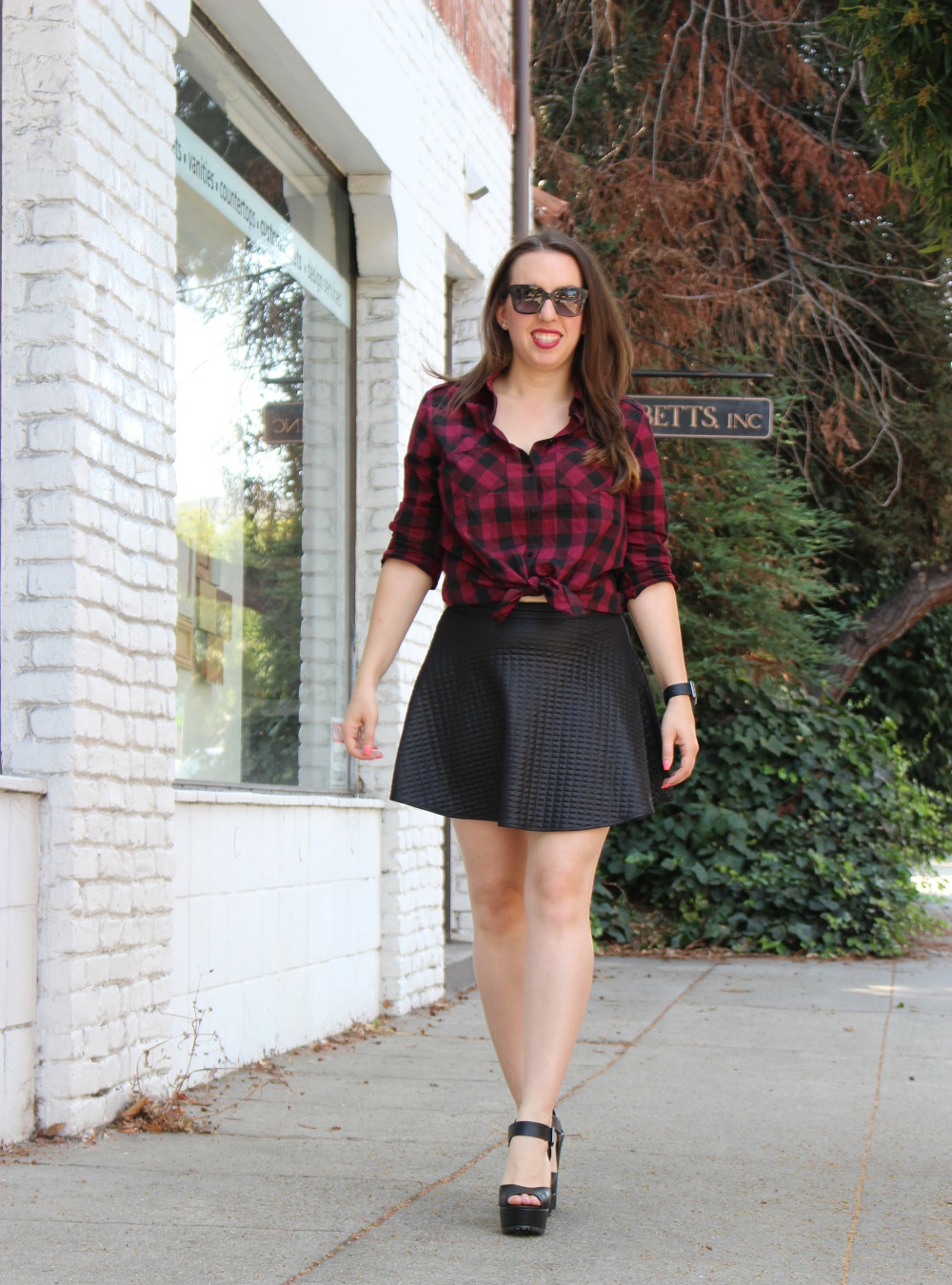 fall grunge plaid