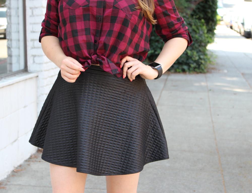 fall grunge skirt