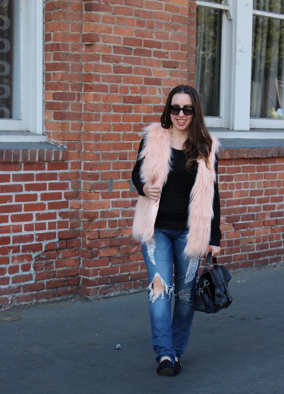 fall faux fur vest