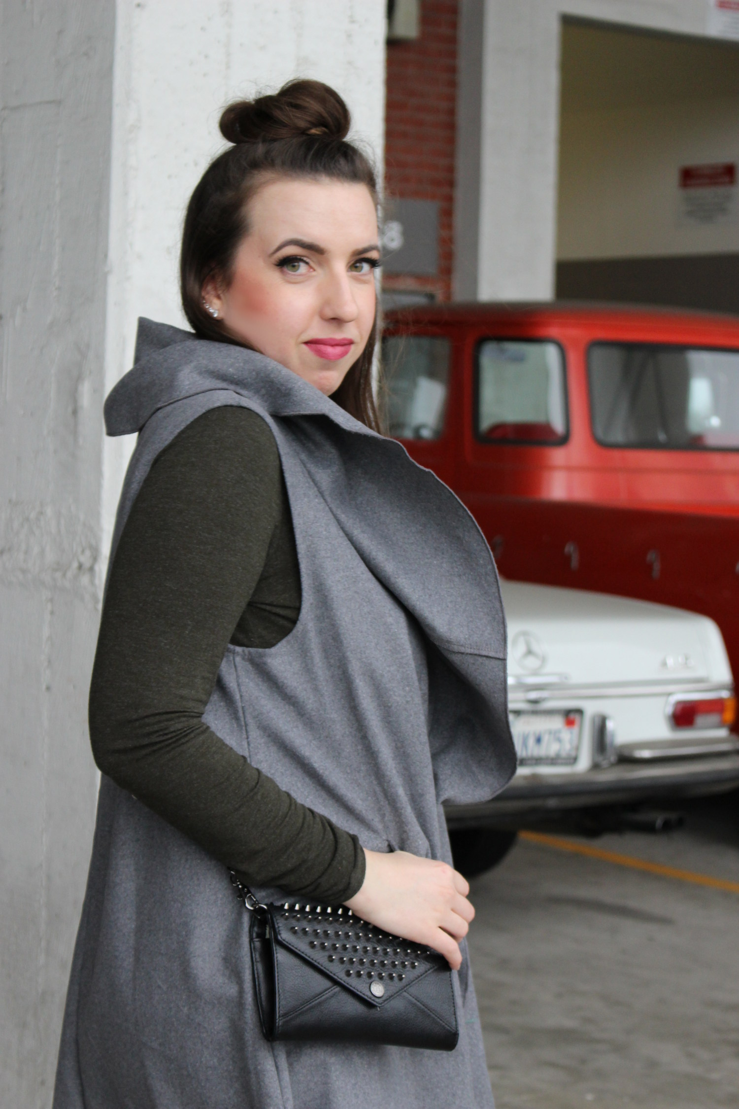 sleeveless duster coat