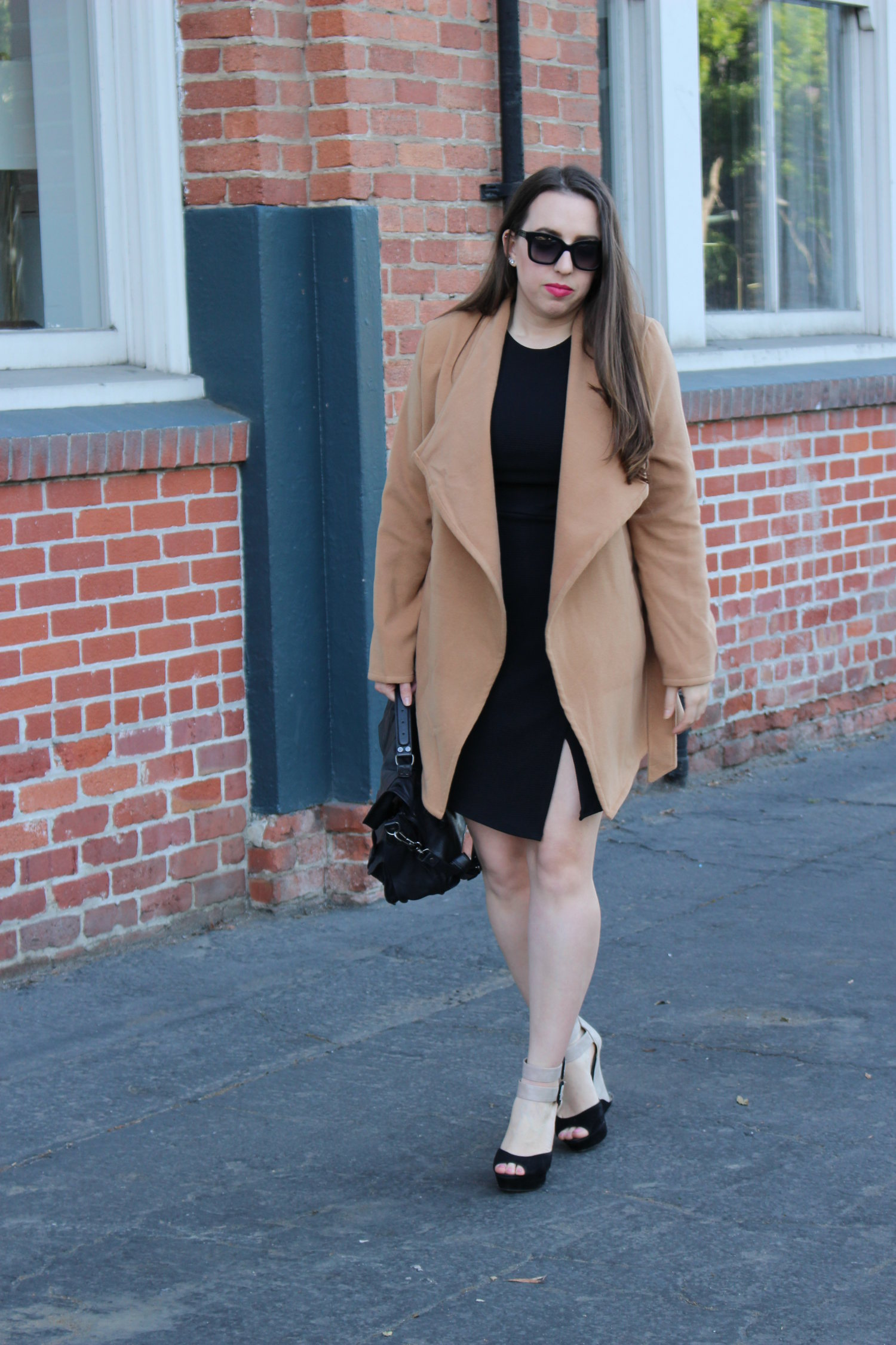camel coat - affordable romwe fashion