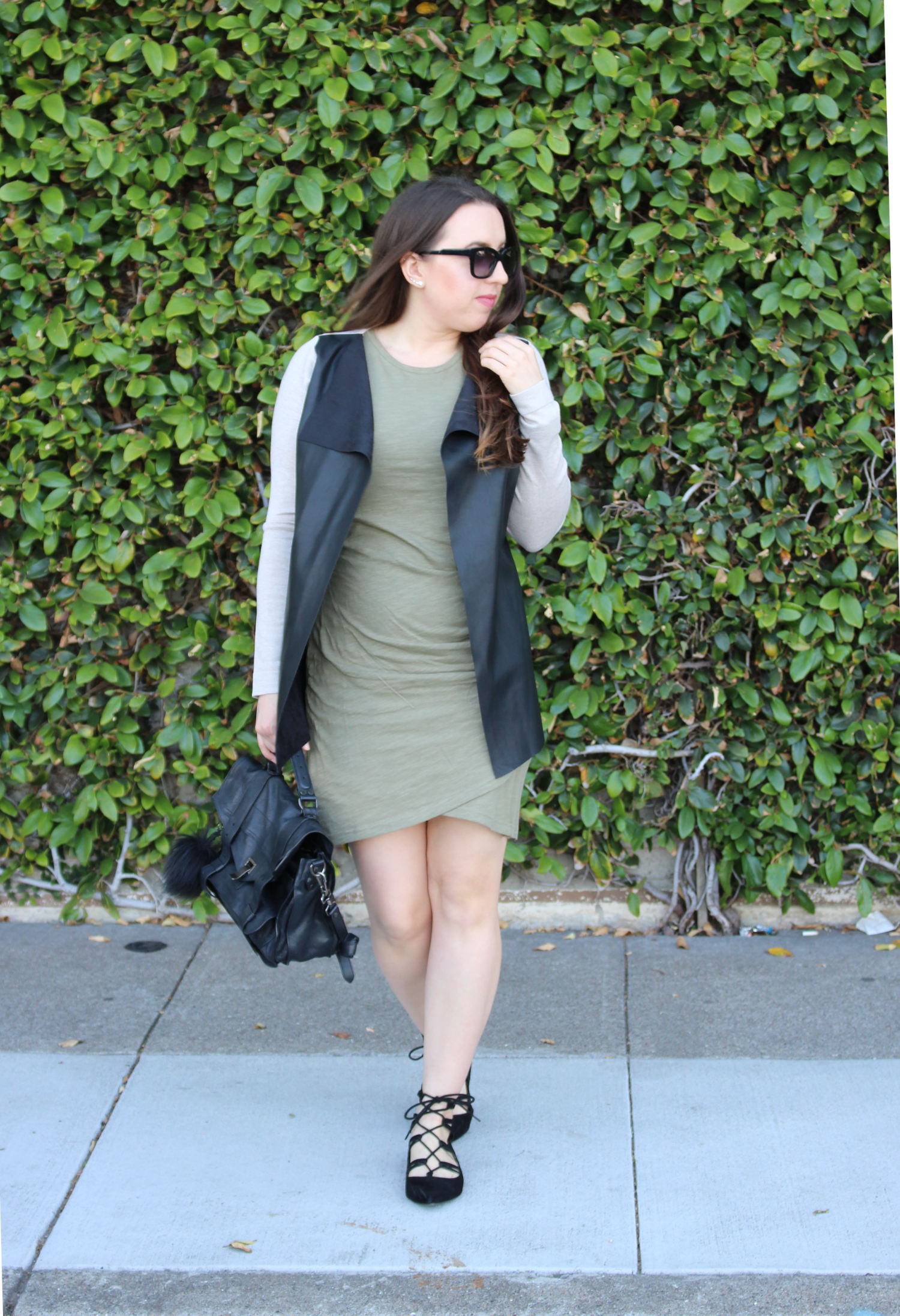 forever 21 olive dress lace-up flats