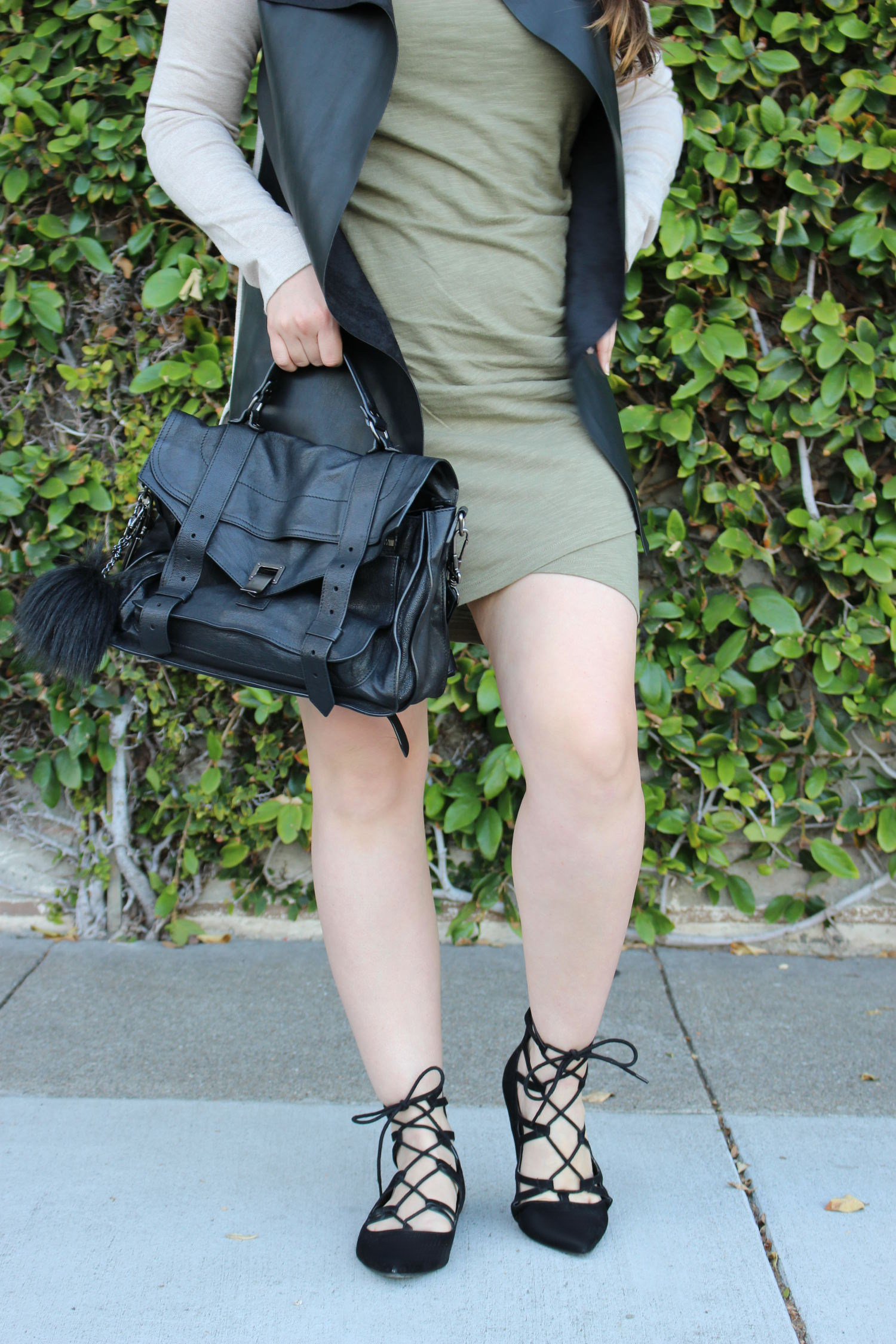 sf fashion blogger - forever 21 olive dress
