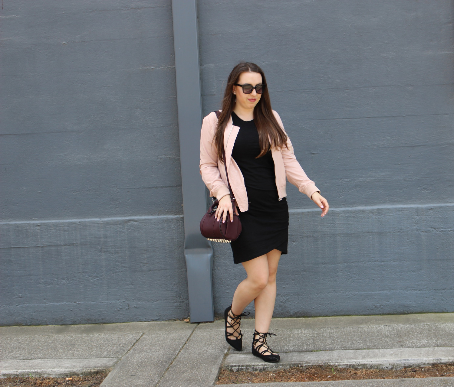 pale pink zara jacket - sf blogger
