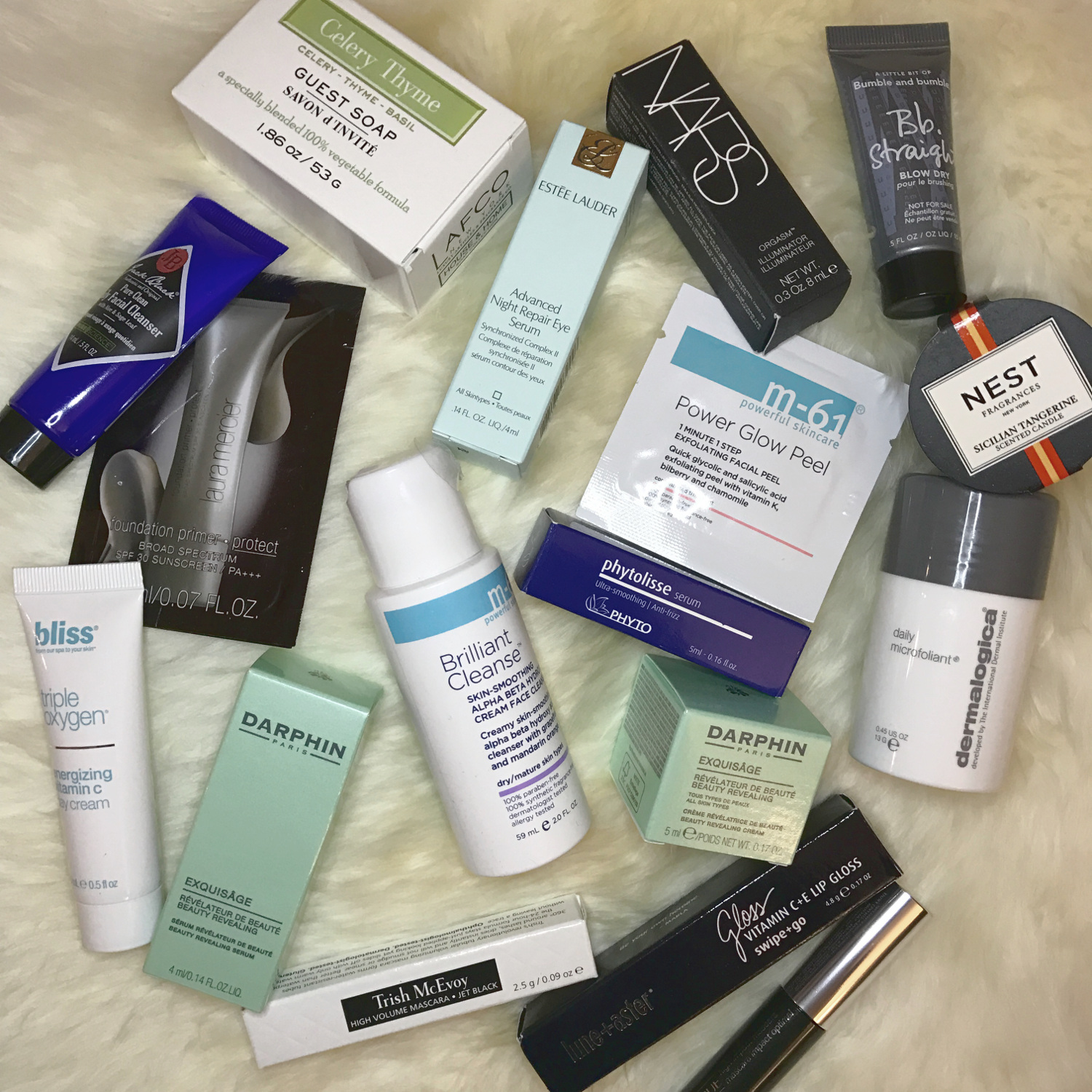 Bluemercury carries Darphin, M61, Bliss, Dermalogica, and Trish McEvoy