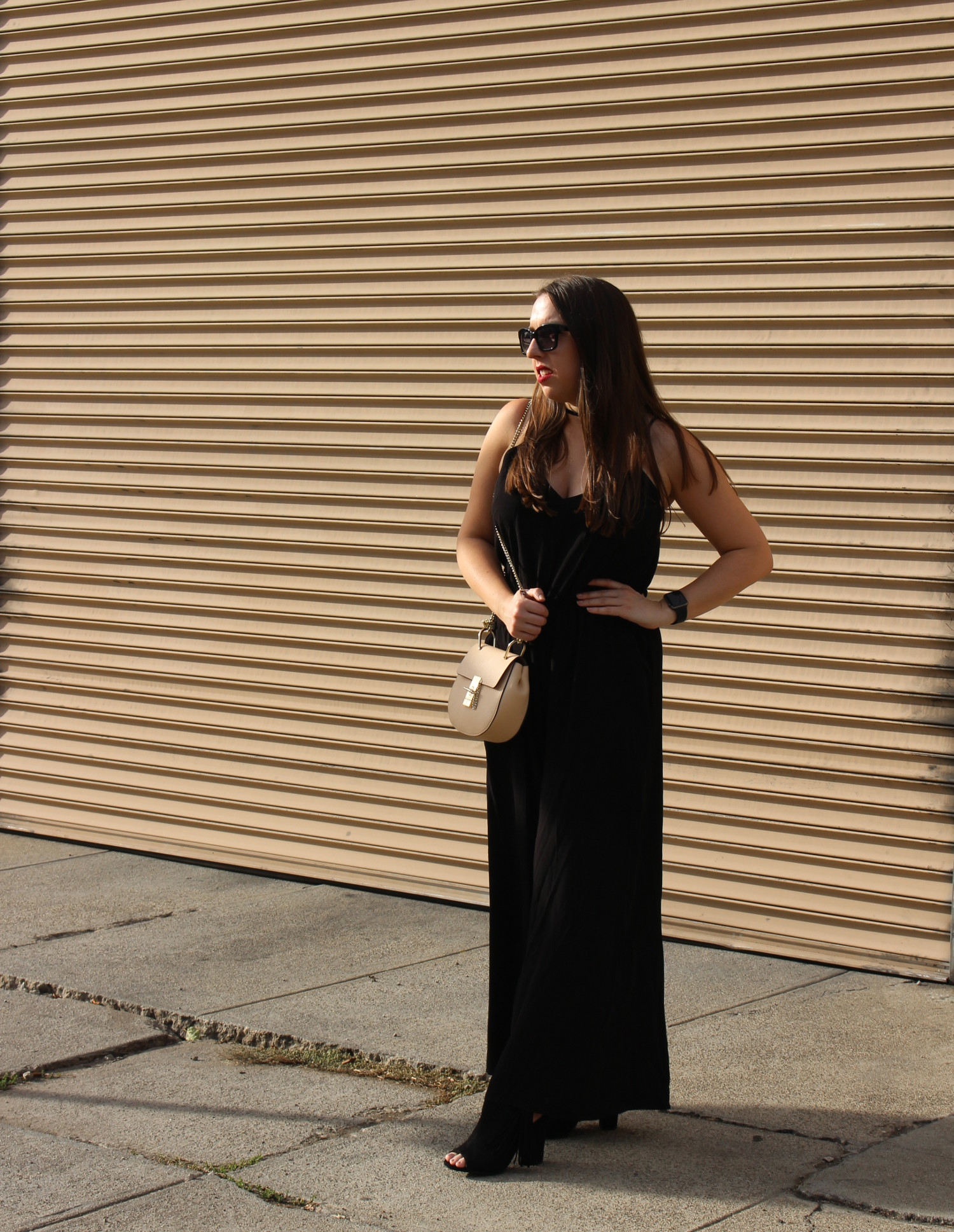 black linen jumpsuit - sf fashion blogger