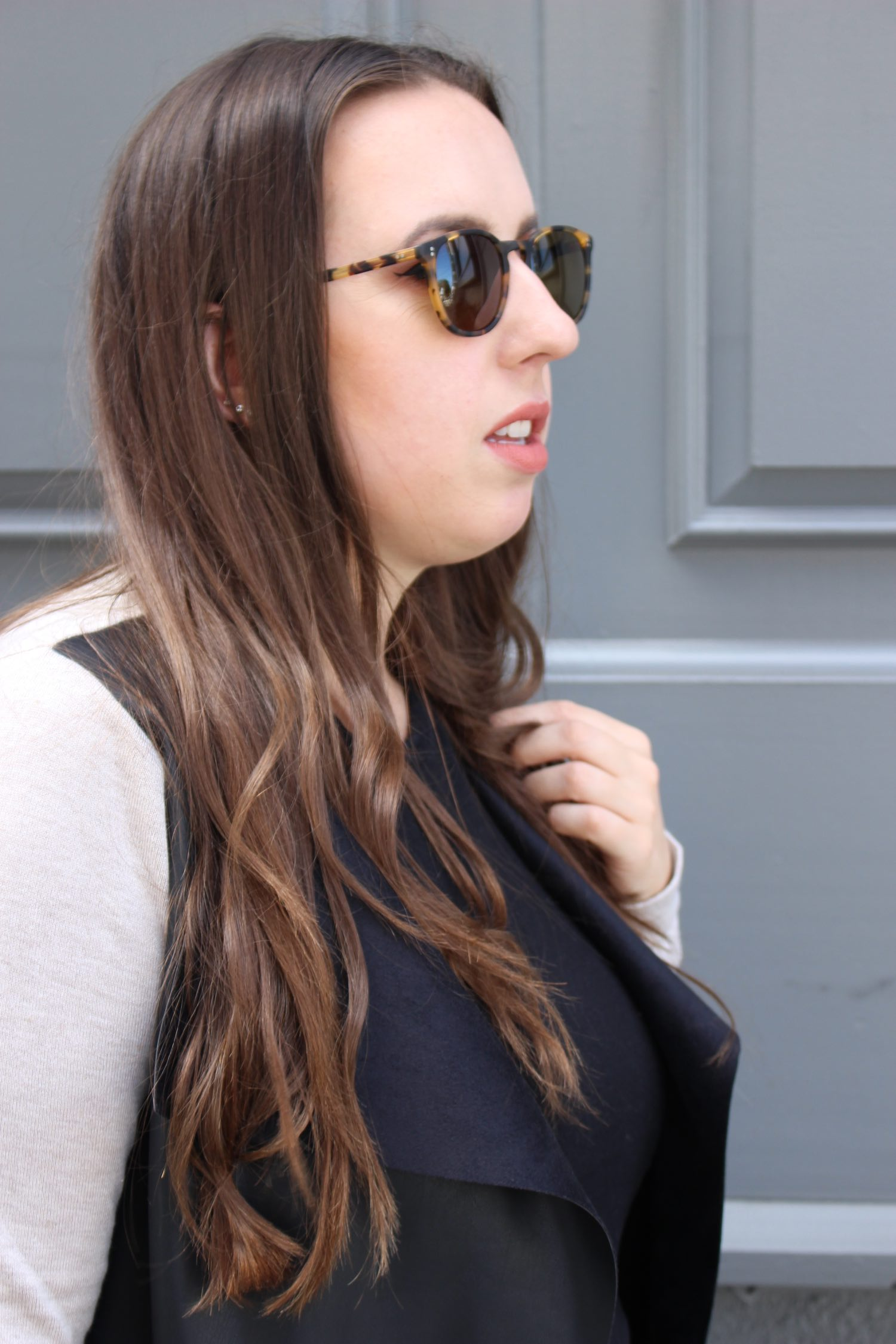 sf blogger wearing garrett leight sunglasses