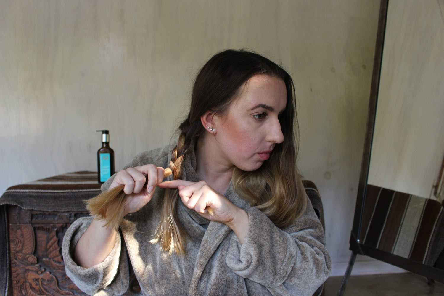 easy hairstyles with moroccanoil