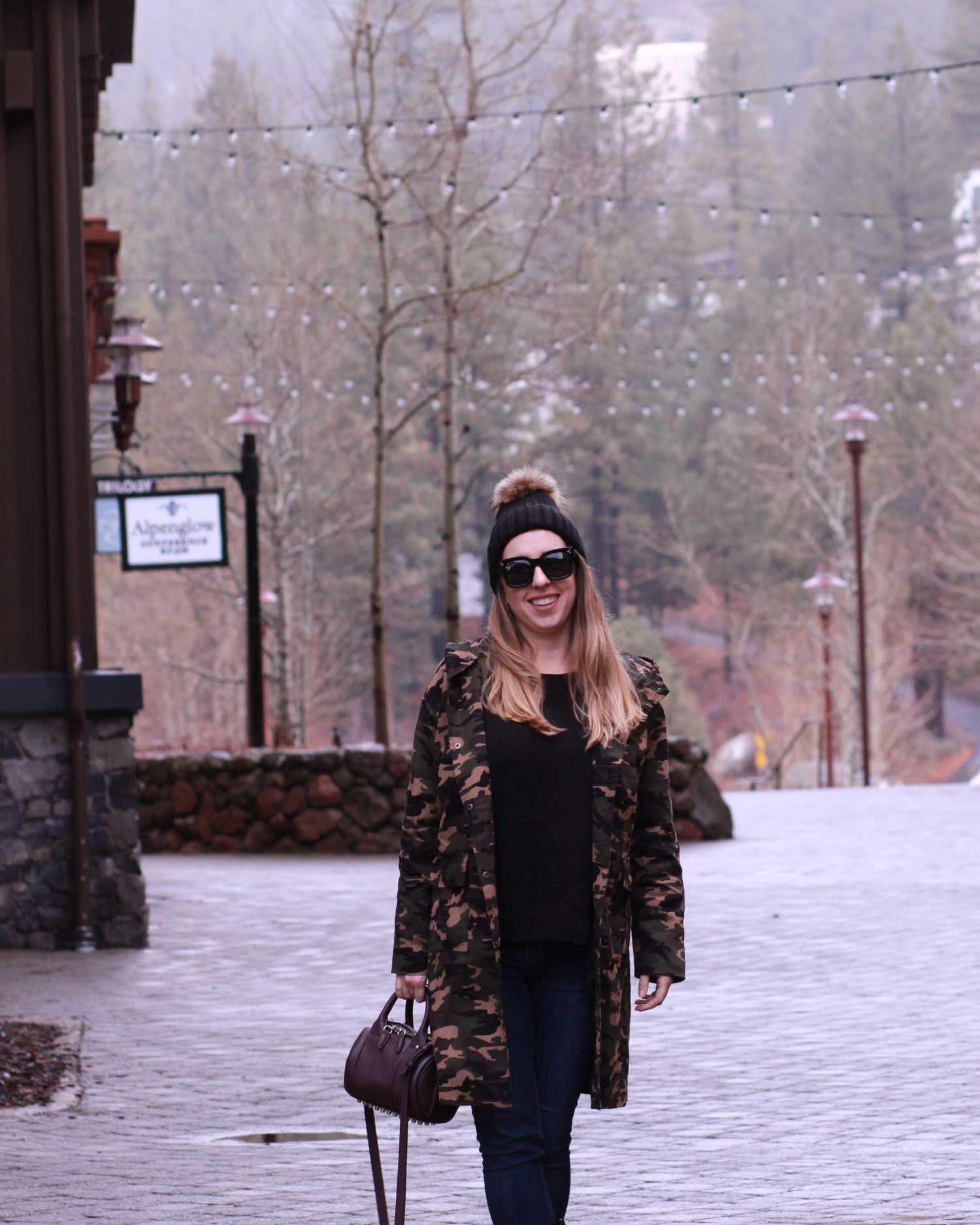 long camouflage jacket