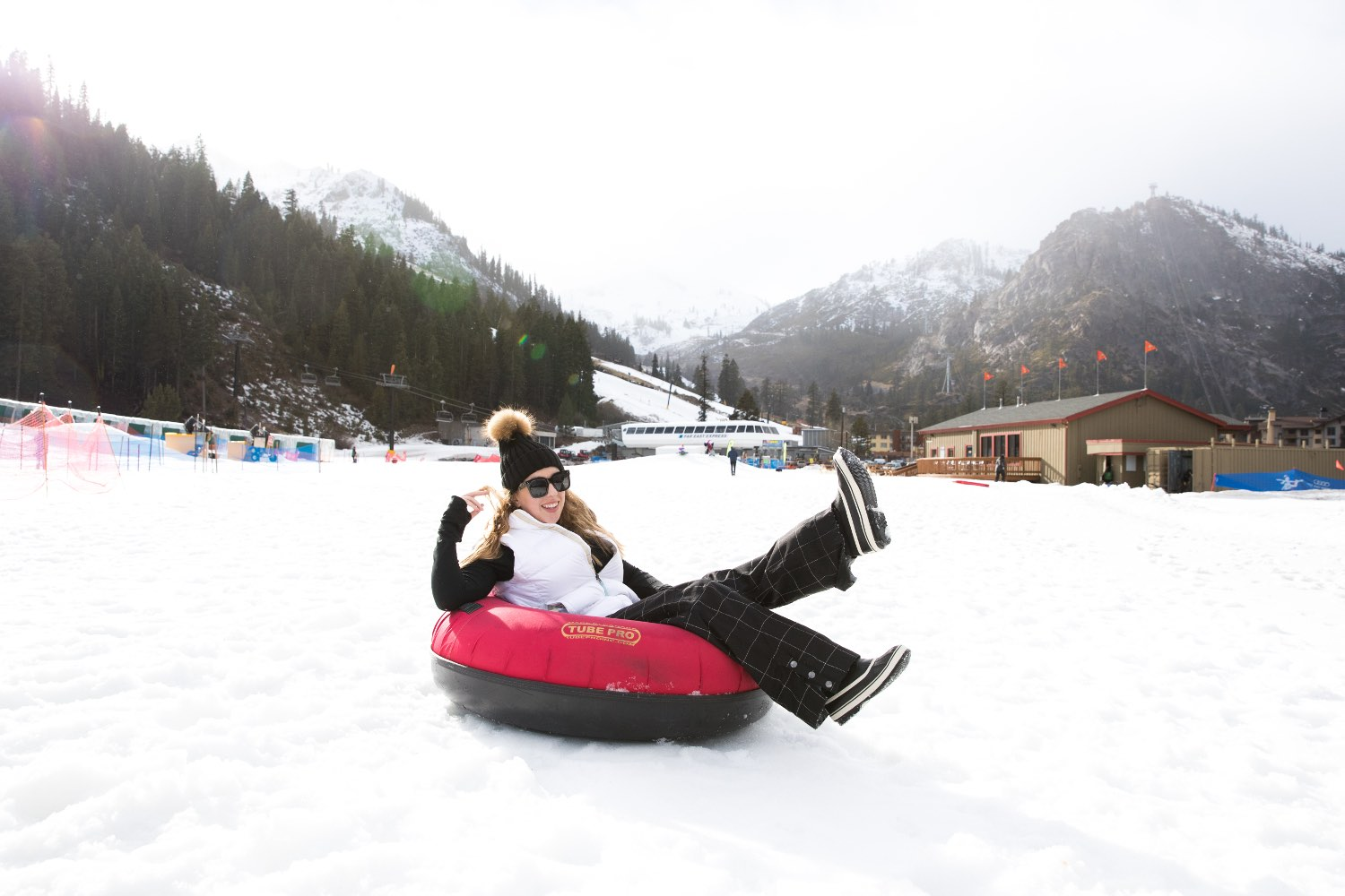 Snowtubing at Squaw Valley
