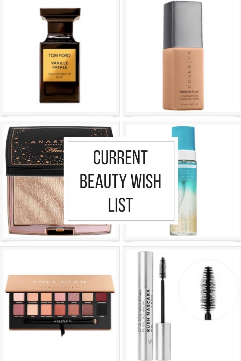 Current Beauty Wish List