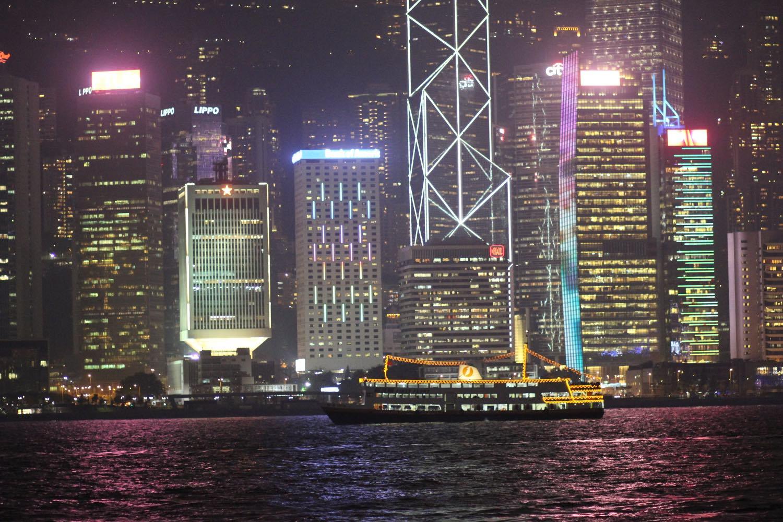 Hong Kong Ferry at night