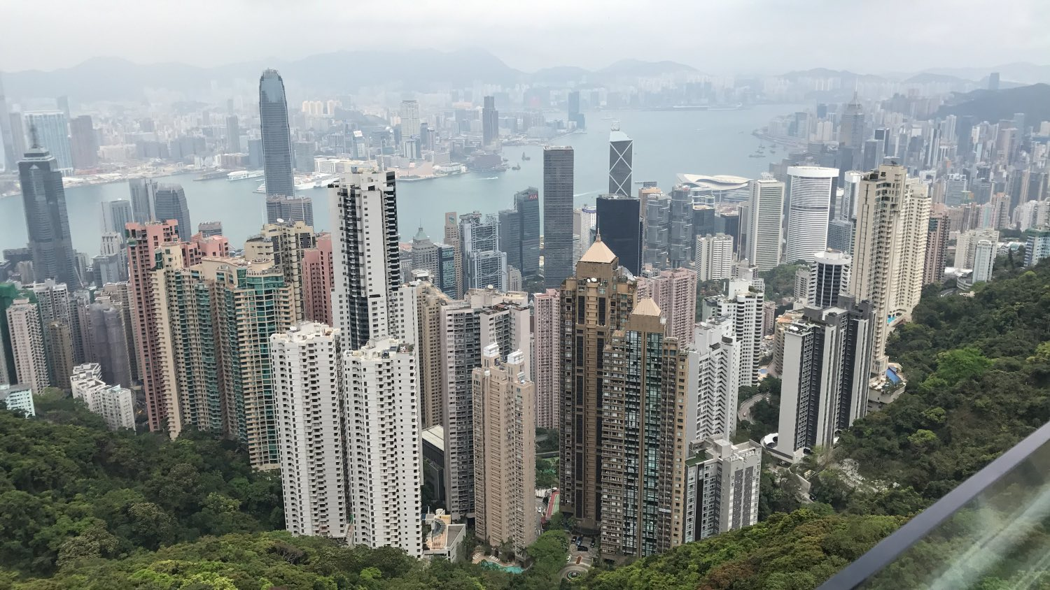 Hong Kong Skyline View from Victoria Peak