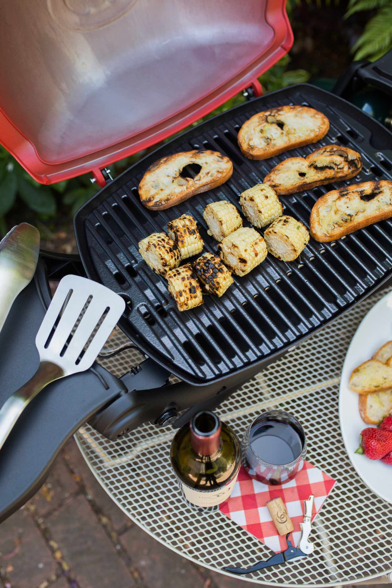 Summer Grill & Chill with Line 39 Wine - Portable Weber Grill