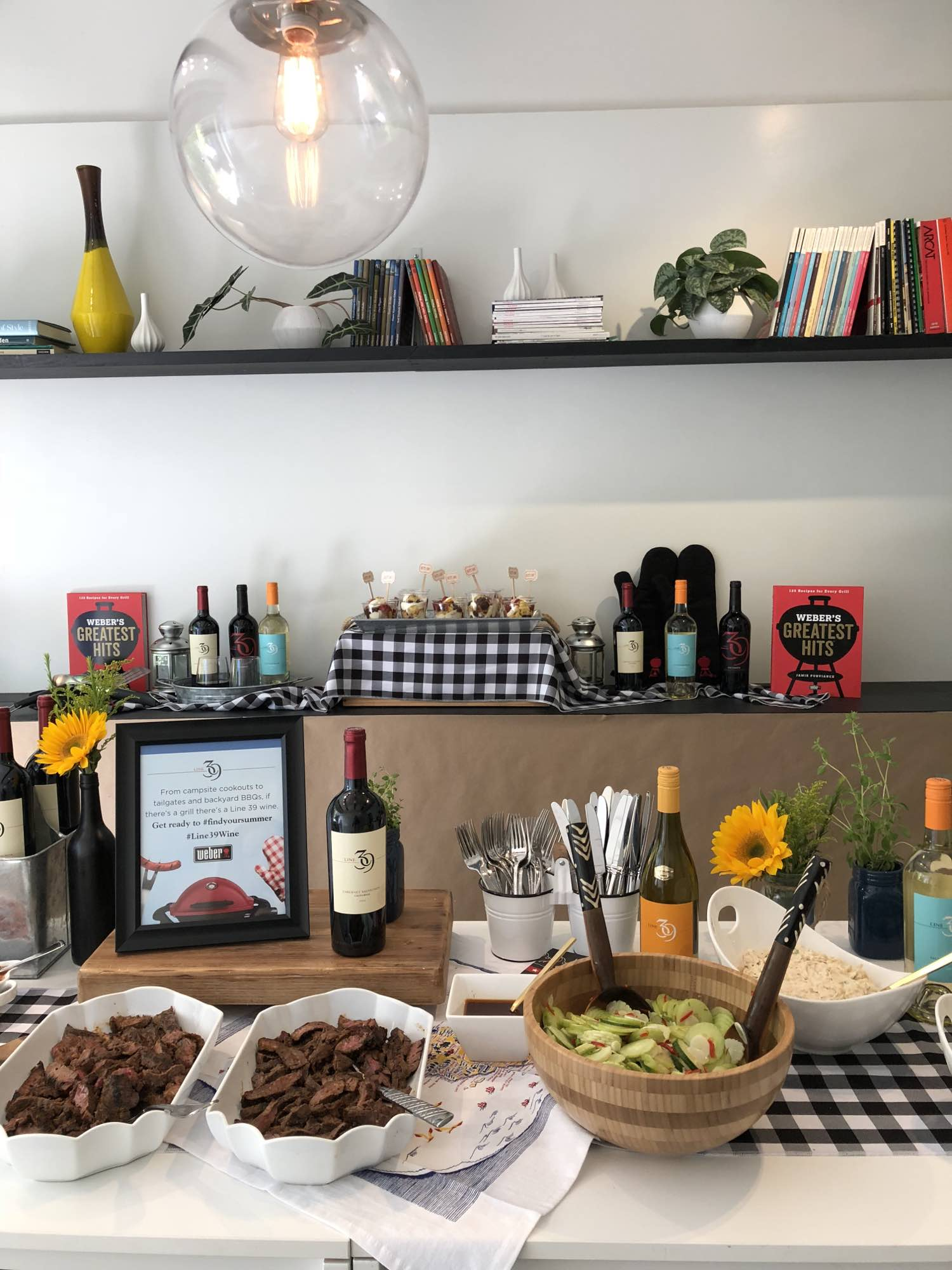 Summer Grill & Chill with Line 39 Wine - Summer BBQ Spread