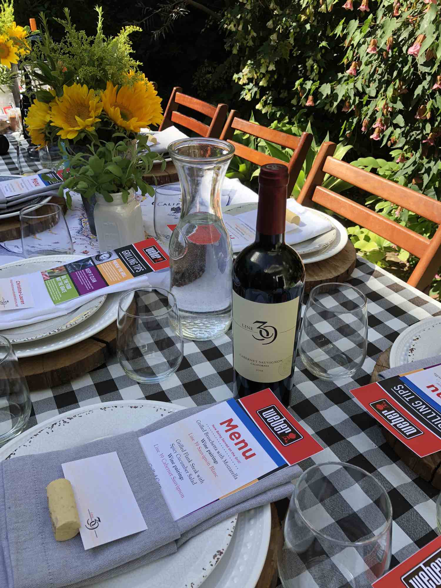 Summer Grill & Chill with Line 39 Wine - Summer BBQ Tablescape
