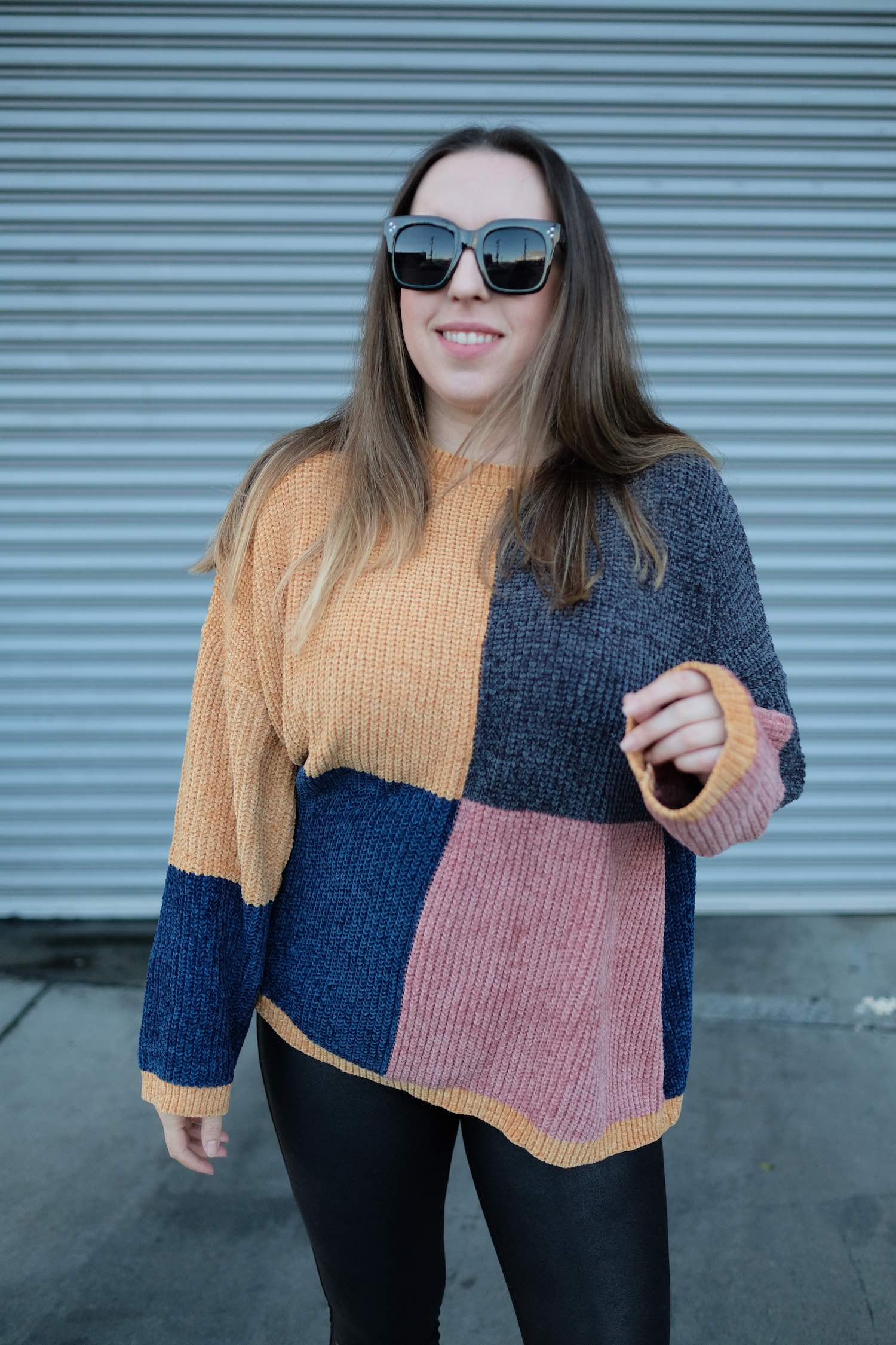 Chenille Colorblock Sweater - Winter Fashion Inspiration