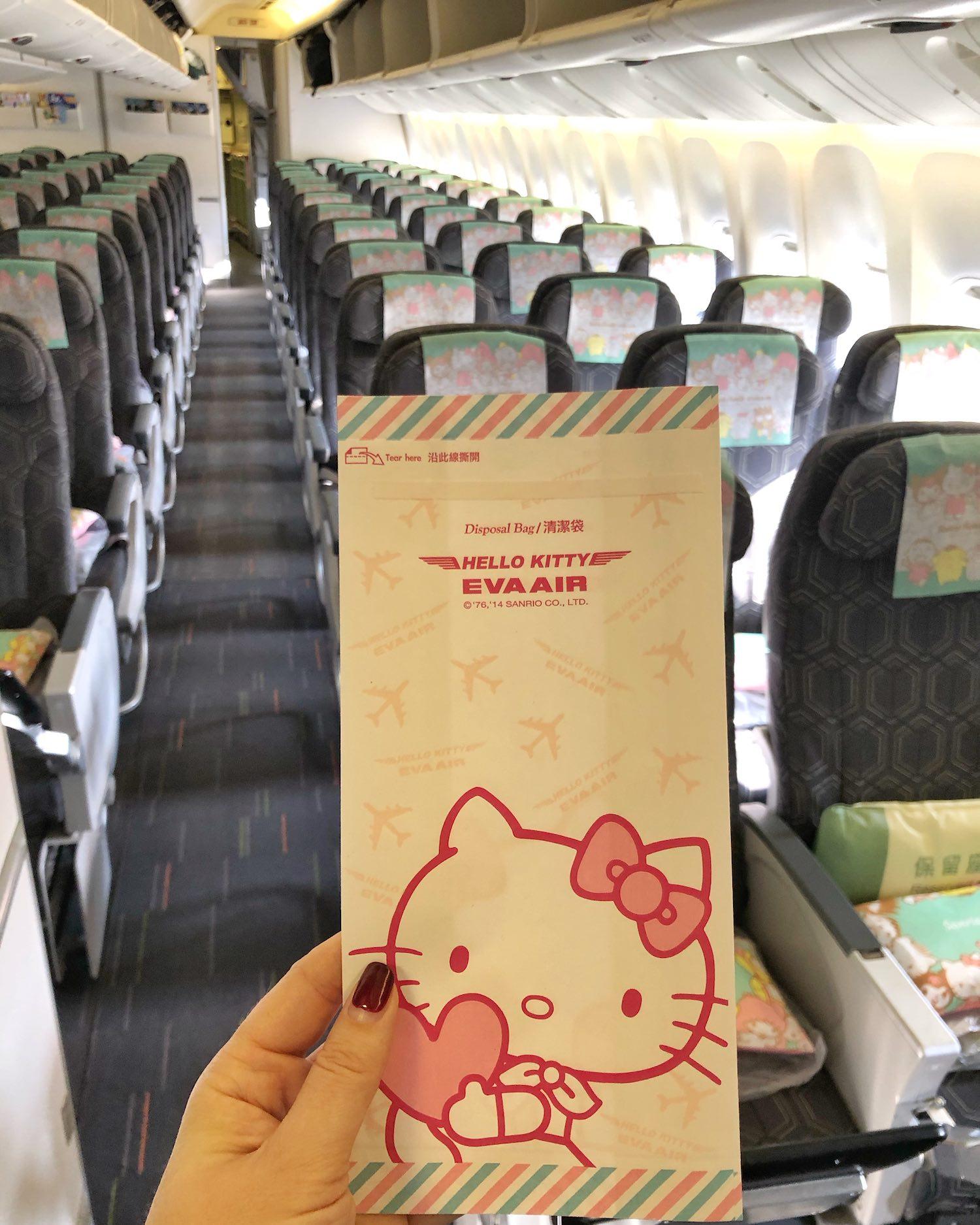 EVA Air Hello Kitty Barf Bag