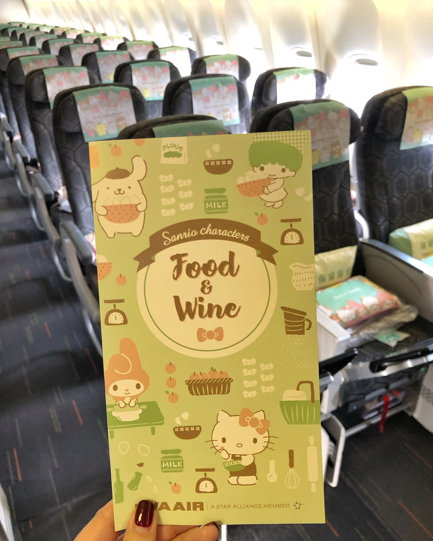 EVA Air Hello Kitty Jet Menu
