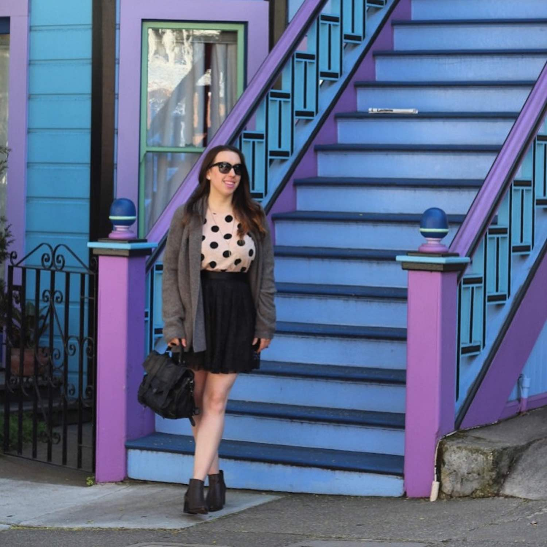 Castro San Francisco Purple Blue Teal House