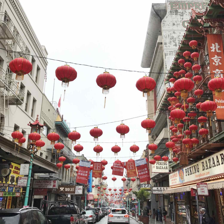 Instagram Worthy Spots in San Francisco - Grant Ave Chinatown Lanterns