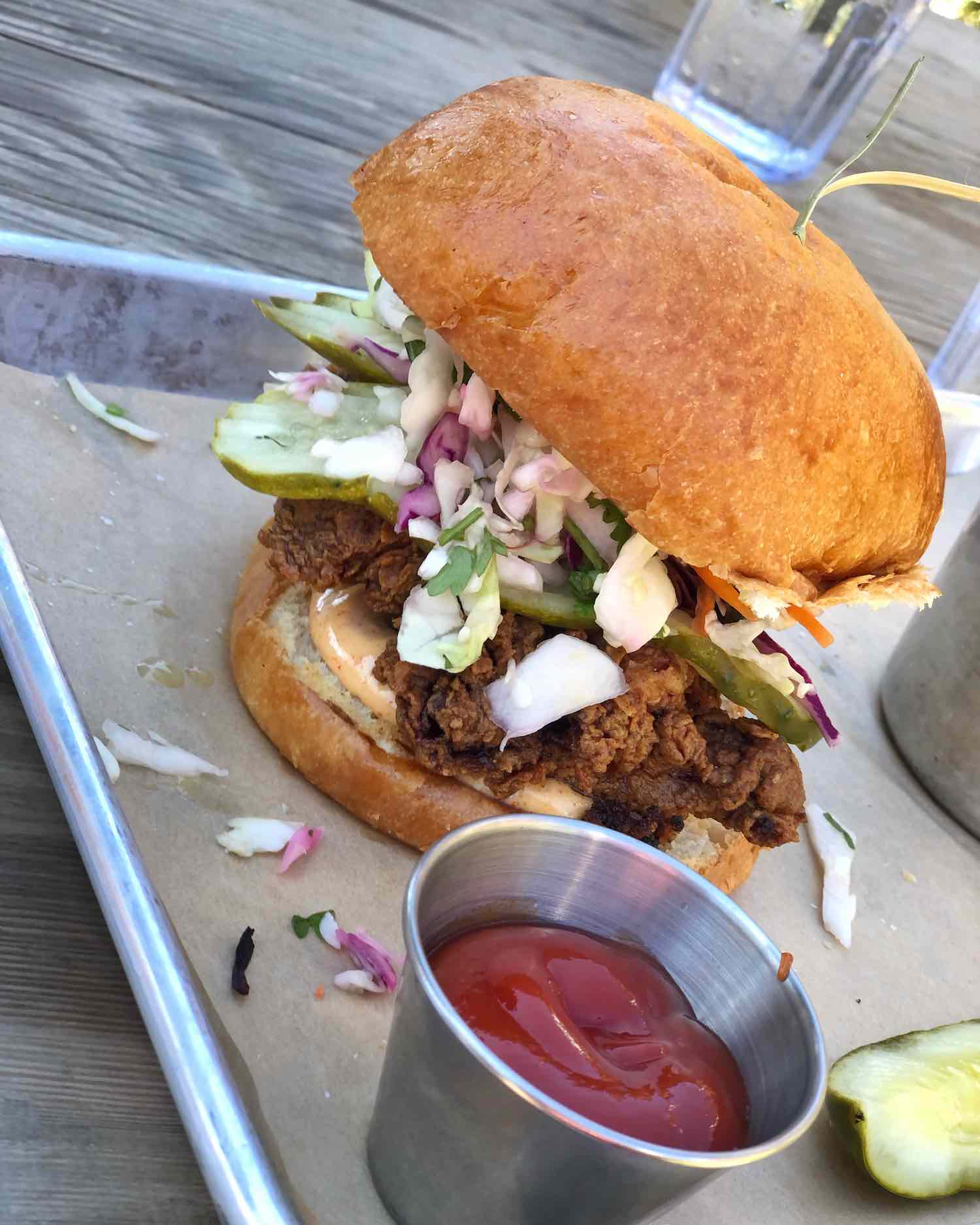 Lagunitas Taproom Fried Chicken Sandwich