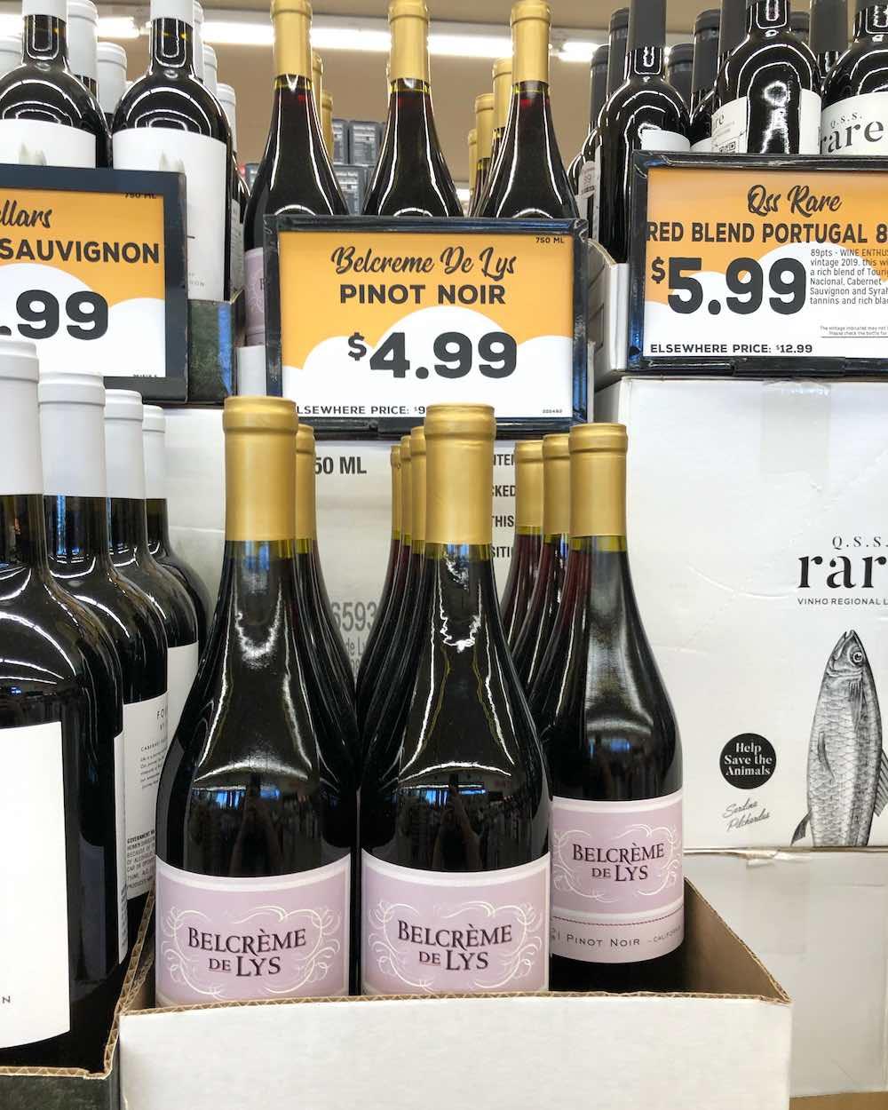 Grocery Outlet Wine - Belcrème De Lys 2018 California Pinot Noir