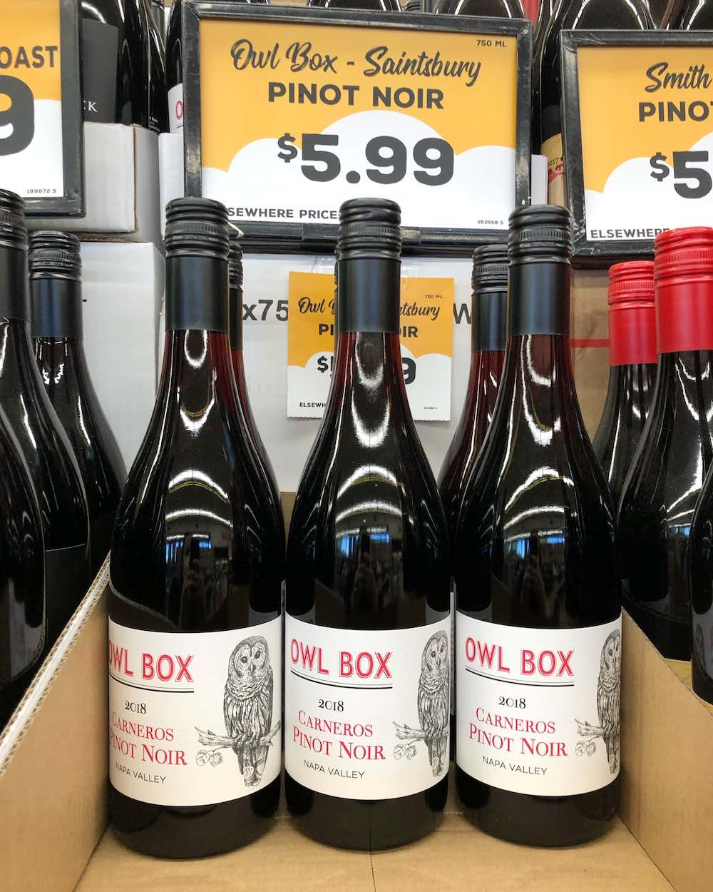 Grocery Outlet Wine - Owl Box 2018 Napa Valley Carneros Pinot Noir